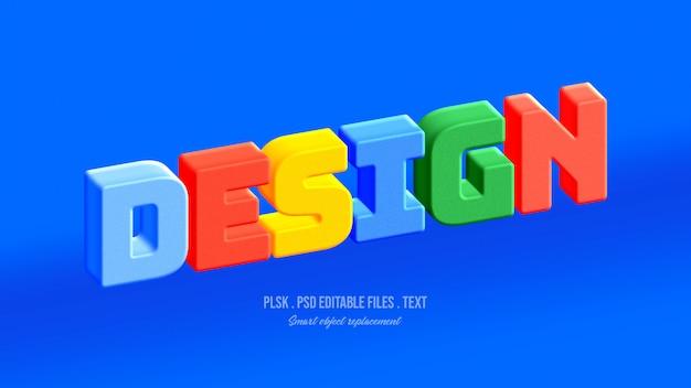 Diseño de efecto de estilo de texto 3d