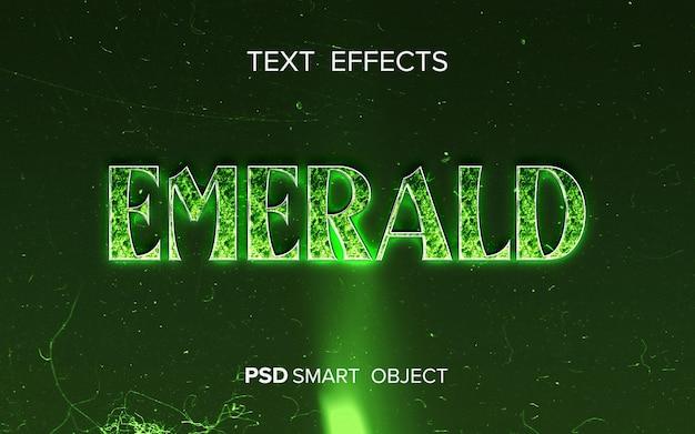 Diseño de efecto de texto esmeralda