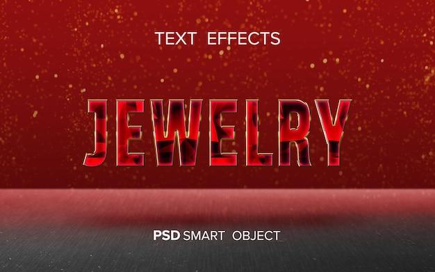 Diseño de efecto de texto de joyería