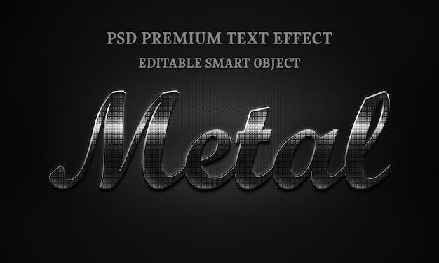 Diseño de efecto de texto de metal