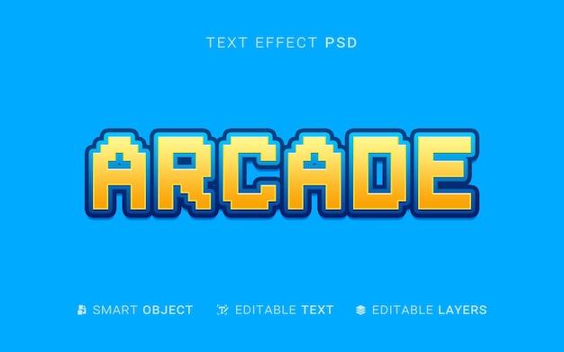 Diseño de efectos de texto arcade