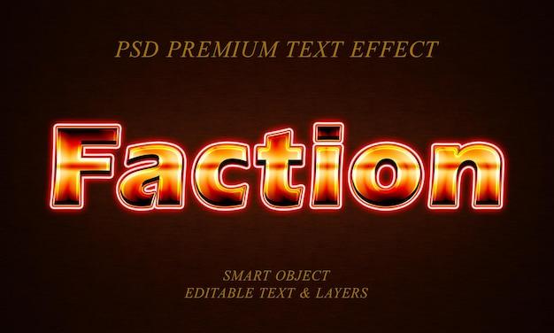Diseño de efectos de texto de facción