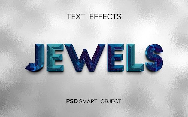 Diseño de efectos de texto de joyas