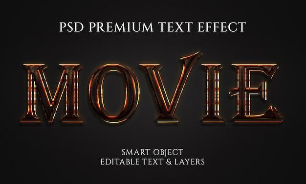 Diseño de efectos de texto de película