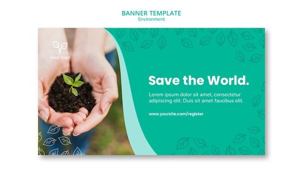 Diseño de entorno para plantilla de banner