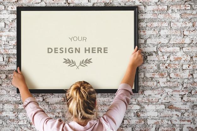 Diseño de espacio con marco de fotos
