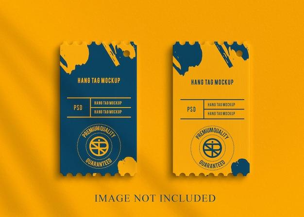 Diseño de etiqueta colgante de diseño de maqueta de logotipo de lujo