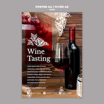 Diseño de flyer de cata de vinos.