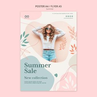 Diseño de flyer de colección de verano