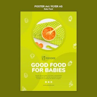 Diseño de flyer de comida para bebés