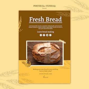 Diseño de flyer para hacer pan