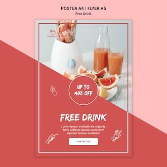 Diseño de folleto de bebida gratis