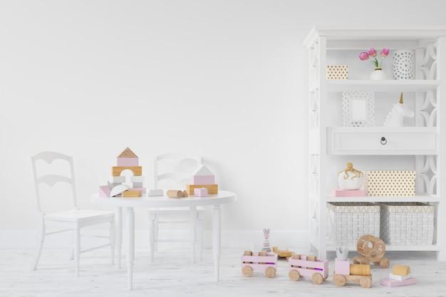 Diseño de habitación interior para niños.