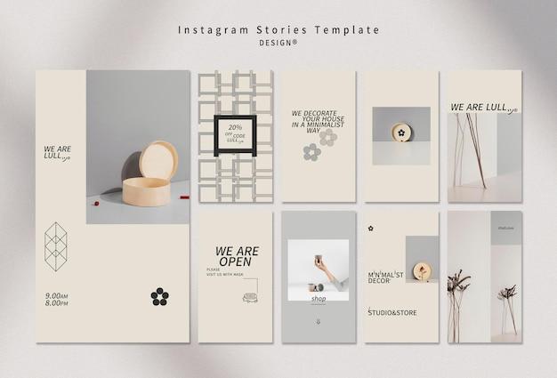 Diseño de historias de instagram de interiores