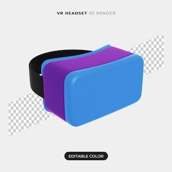 Diseño de icono de auricular vr 3d aislado