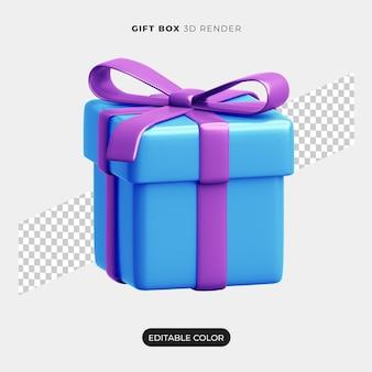 Diseño de icono de caja de regalo 3d aislado