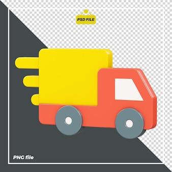 Diseño de icono de camión de reparto 3d