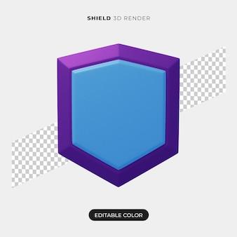 Diseño de icono de escudo 3d aislado