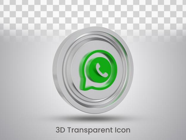 Diseño de icono de whatsapp renderizado en 3d