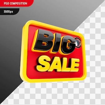 Diseño de insignia de gran venta 3d