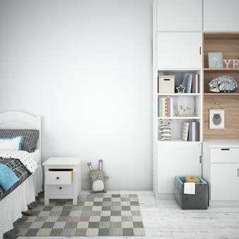 Diseño interior de dormitorio infantil