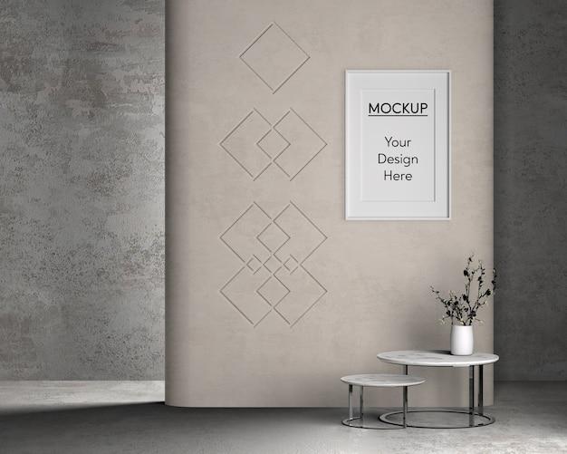 Diseño interior con linda mesa
