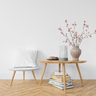 Diseño interior moderno de sala de estar