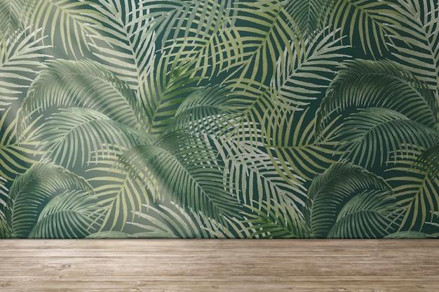 Diseño de interiores de estilo psd de maqueta de pared de habitación vacía