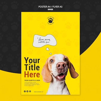 Diseño lindo del cartel del perro