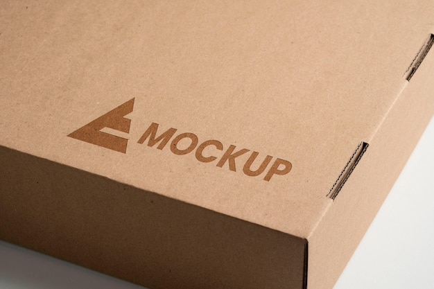 Diseño de logotipo de maqueta vista alta