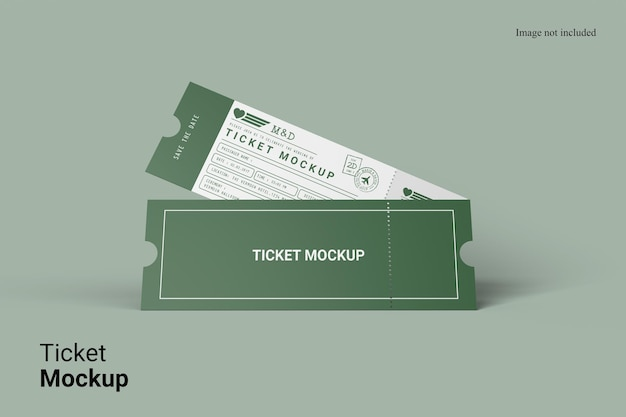 Diseño de maqueta de boleto de vista realista aislado