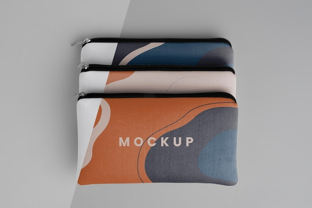 Diseño de maqueta de bolsa de lona plana