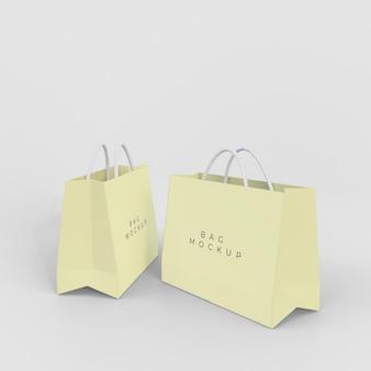 Diseño de maqueta de bolsa de papel
