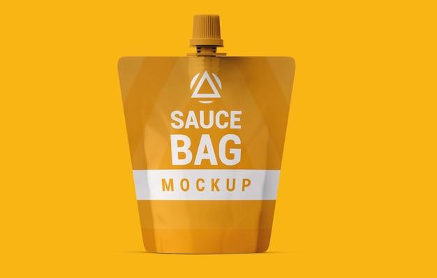 Diseño de maqueta de bolsa de salsa de lujo