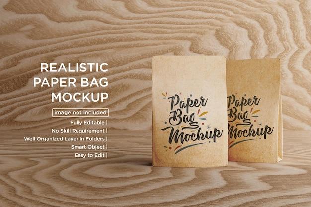 Diseño de maqueta de bolsas de café de papel