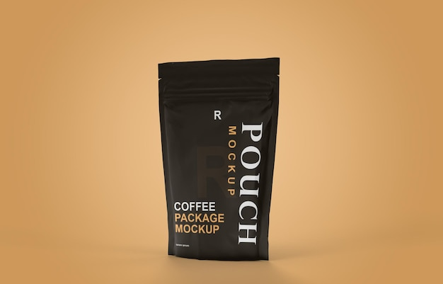 Diseño de maqueta de bolsita de empaque de café