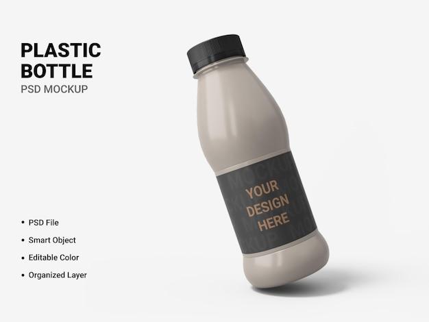 Diseño de maqueta de botella de plástico aislado