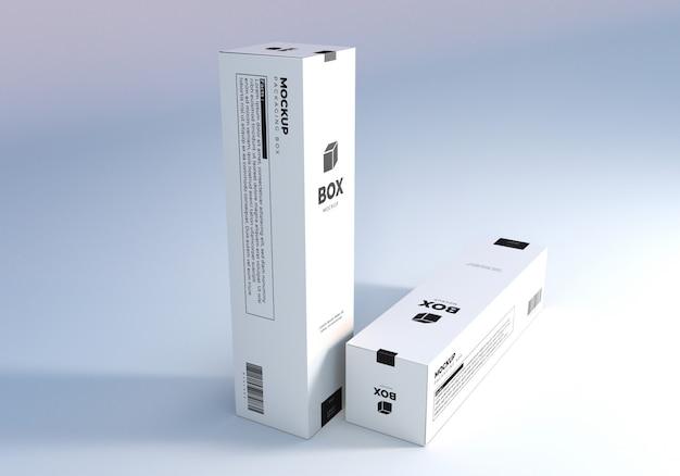 Diseño de maqueta de caja de embalaje alto realista