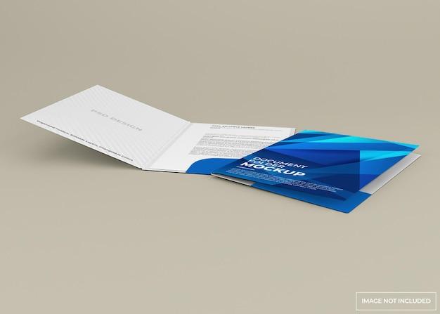 Diseño de maqueta de carpeta de documentos aislado