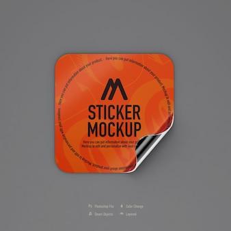 Diseño de maqueta de etiqueta cuadrada aislado