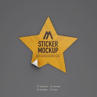 Diseño de maqueta de etiqueta de estrella aislado