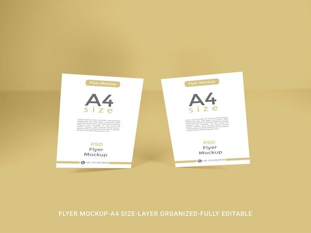 Diseño de maqueta de flyer a4