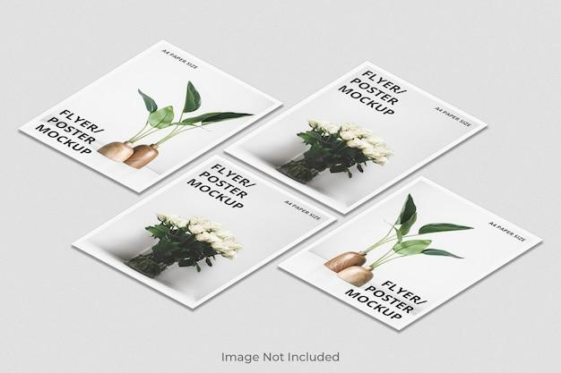 Diseño de maqueta de folleto flyer a4