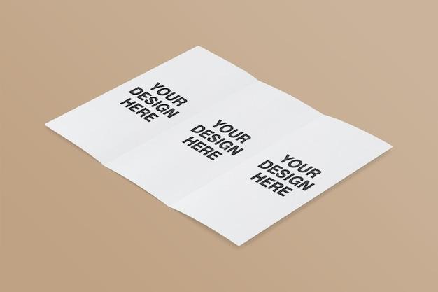 Diseño de maqueta de folleto tríptico.