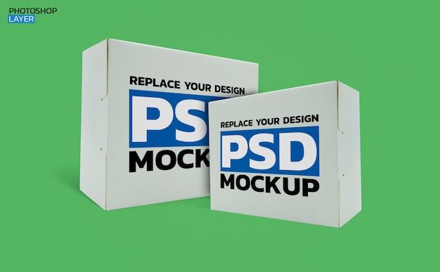Diseño de maqueta de foto de caja de papel