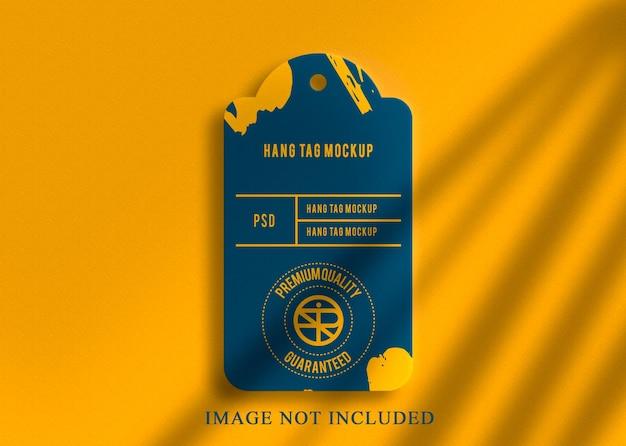 Diseño de maqueta de logotipo de lujo diseño de etiqueta colgante real