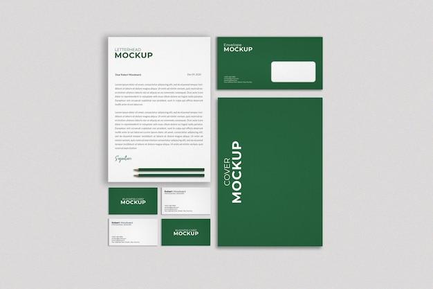 Diseño de maqueta de marca de identidad corporativa