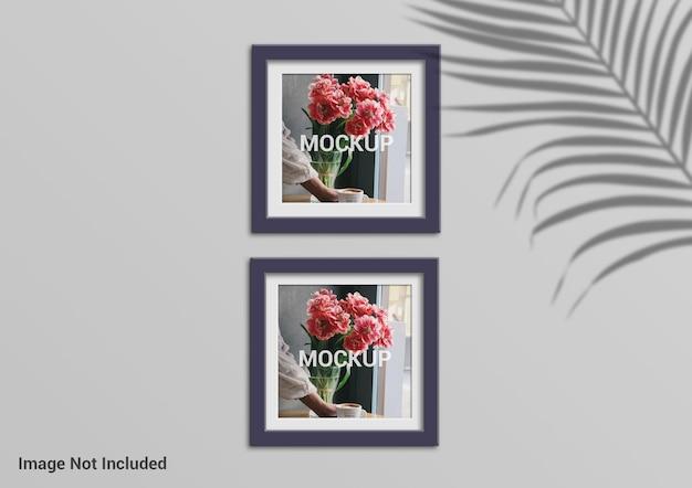Diseño de maqueta de marco de fotos cuadrado