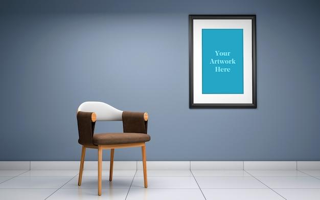 Diseño de maqueta de marco de fotos vacío