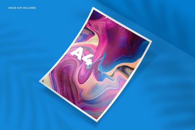Diseño de maqueta de marco de fotos de verano en renderizado 3d